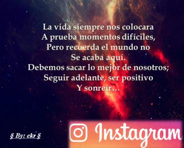 La presencia de Frases bonitas para Instagram en la vida de las personas es cada vez más indispensable. A través de esta red social se comparte contenido...