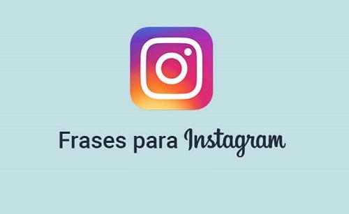 Frases para fotos Instagram
