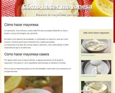 ejemplo de micronicho para hacer mayonesa