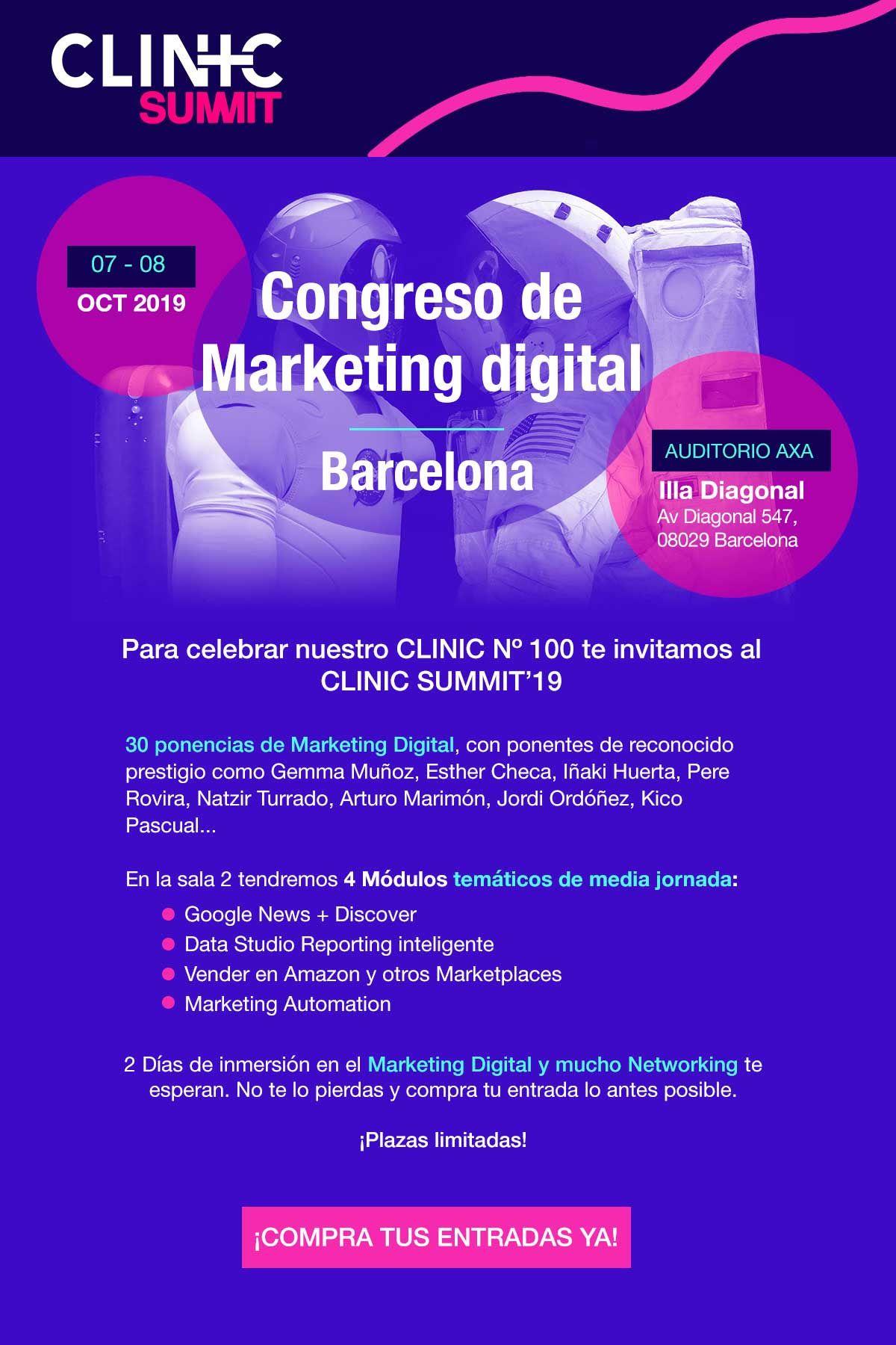 Barcelona Acogerá El Congreso De Marketing Online Clinic