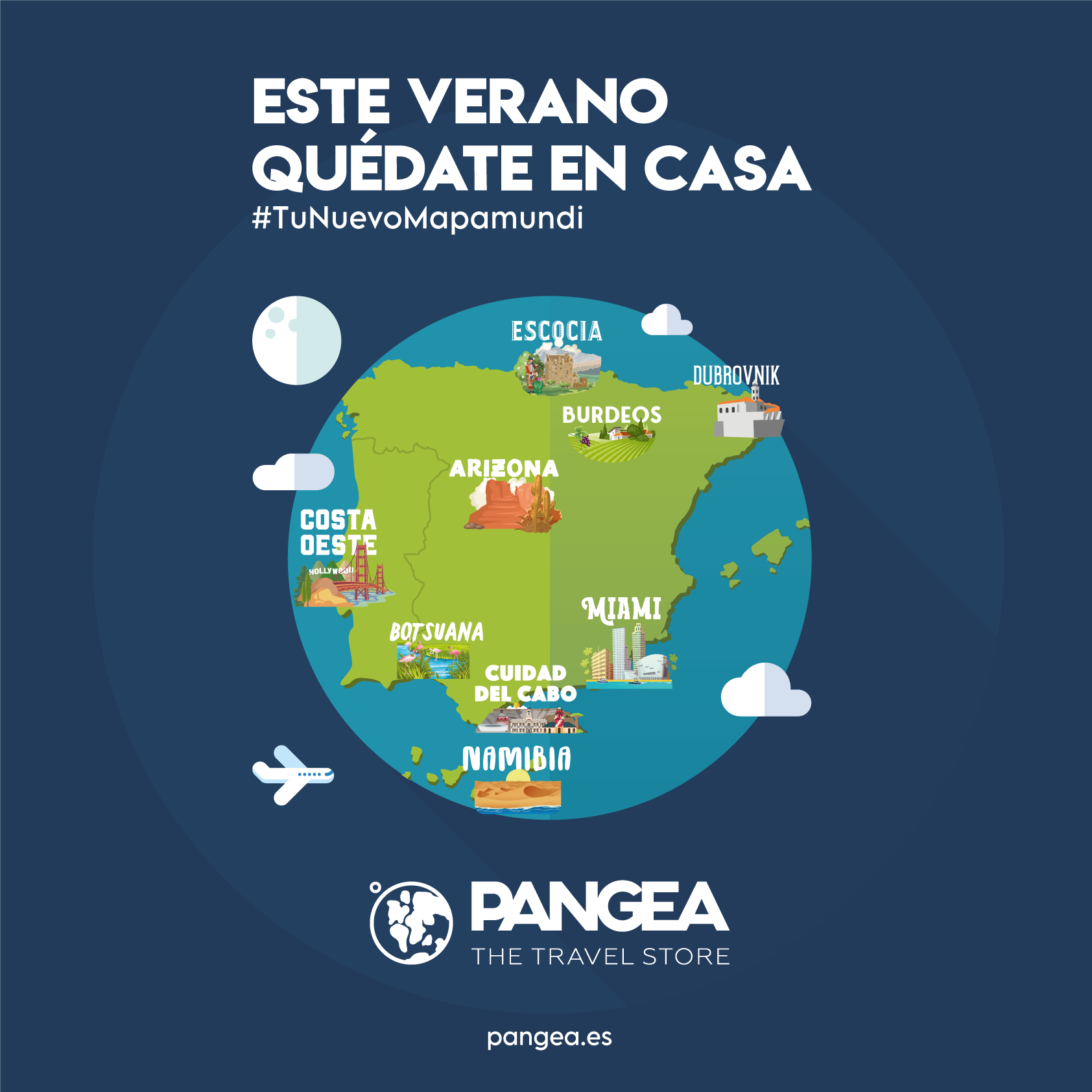 PANGEA The Travel Store presenta #TuNuevoMapamundi, grandes destinos sin salir de casa para este verano