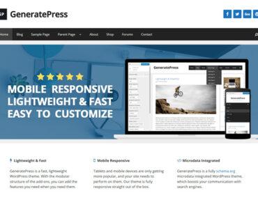Ventajas de GeneratePress